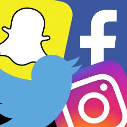 Social logo collage